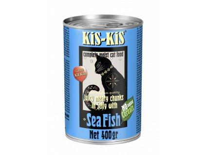 Konzerva pro kočky - KiS-KiS mořská ryba 400 g