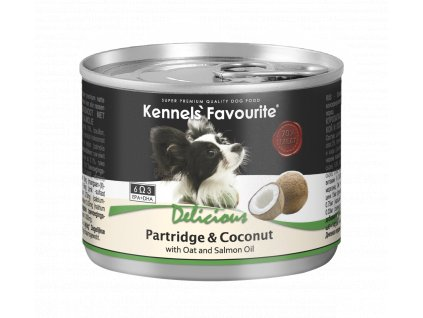 Konzerva pro psy - Kennels' Favourite koroptev + kokos s lososovým olejem 200 g