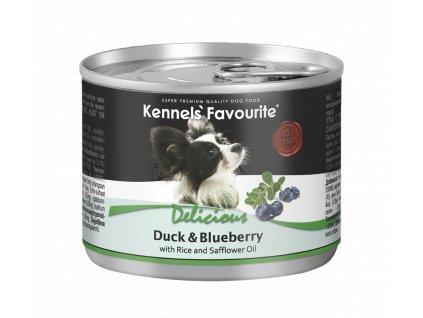 Konzerva pro psy - Kennels' Favourite kachna + borůvky se slunečnicovým olejem 200 g