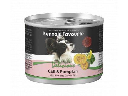 Konzerva pro psy - Kennels' Favourite tele + dýně s řepkovým olejem 200 g