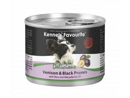Konzerva pro psy - Kennels' Favourite zvěřina + švestky s makadamovým olejem 200 g