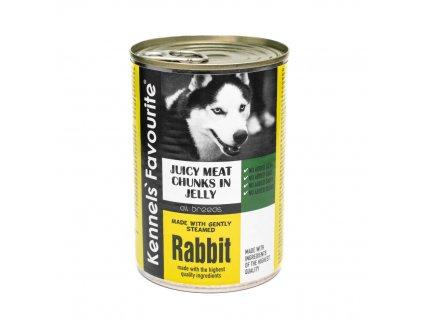 Konzerva pro psy - Kennels' Favourite králík 400 g