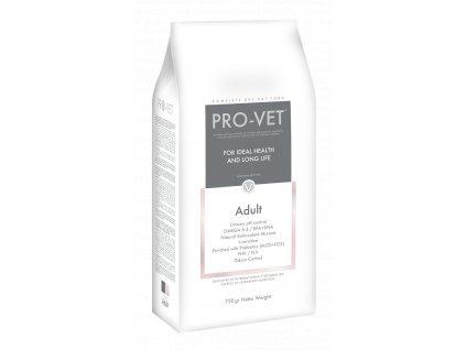Veterinární granule pro kočky - snižuje riziko různých onemocnění - PRO-VET Adult 750 g