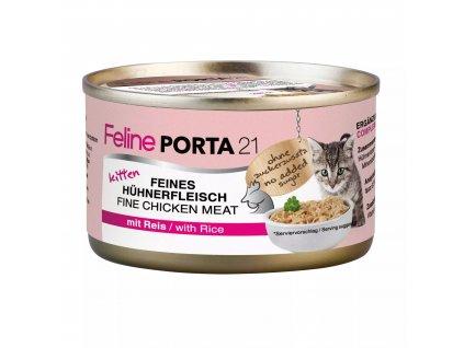 Konzerva pro kočky - Feline Porta 21 - kuřecí s rýží v gelu 90 g