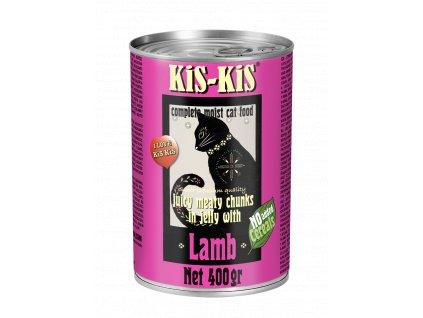 Konzerva pro kočky - KiS-KiS jehněčí 400 g