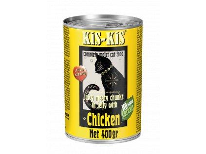 Konzerva pro kočky - KiS-KiS kuře 400 g