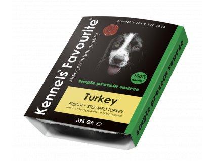 Masová pochoutka pro psy - Kennels' Favourite krocan 395 g