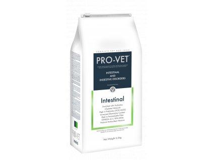 Veterinární granule pro psy - akutní průjmy, špatné trávení - PRO-VET Intestinal 2,5 Kg