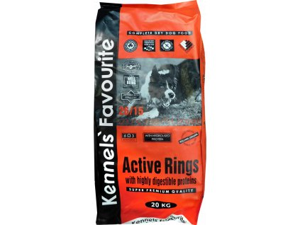 Granule pro psy - Kennels' Favourite Active Rings 20 Kg
