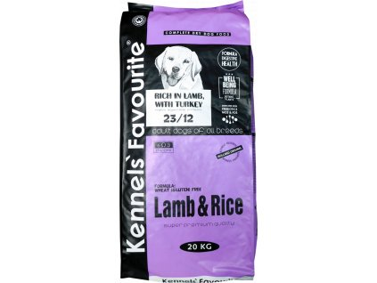 Granule pro psy -  Kennels' Favourite Lamb and Rice 20 Kg