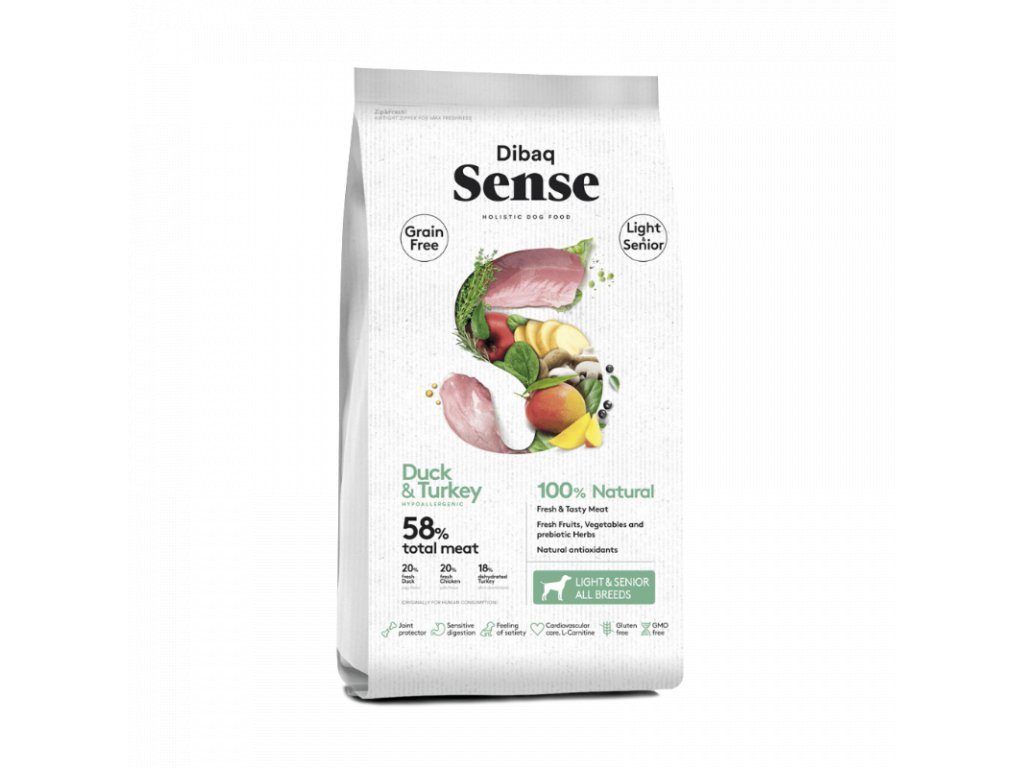 dibaq sense grain free duckturkey lightsenior