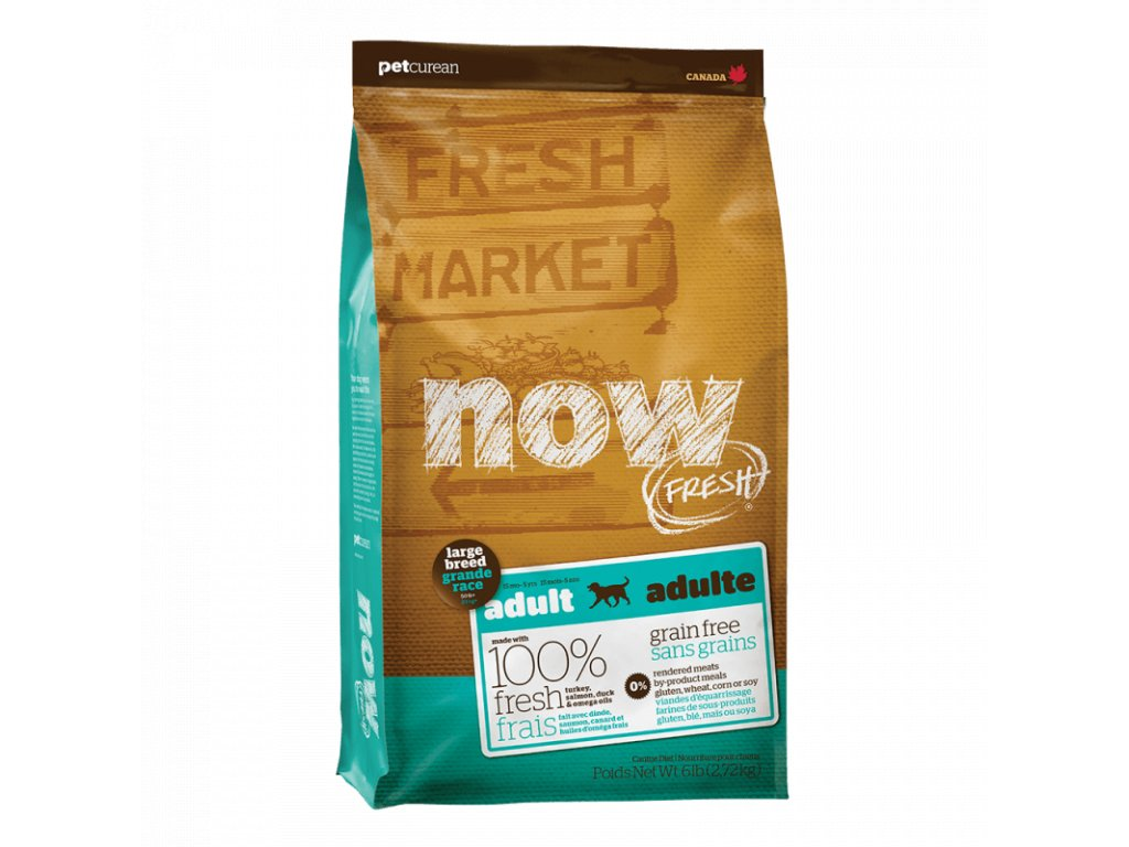 petcurean now fresh grain free large breed adult