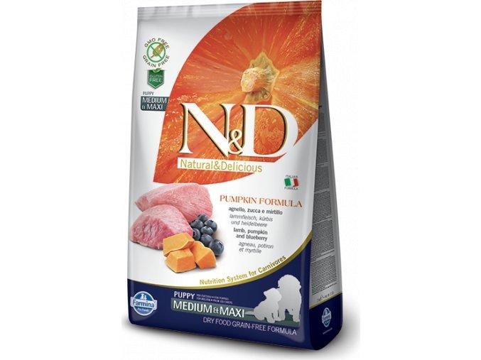 N&D Pumpkin DOG Puppy M/L Lamb & Blueberry 12kg