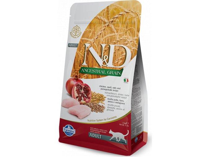 N&D LG CAT Adult Chicken & Pomegranate 1,5kg