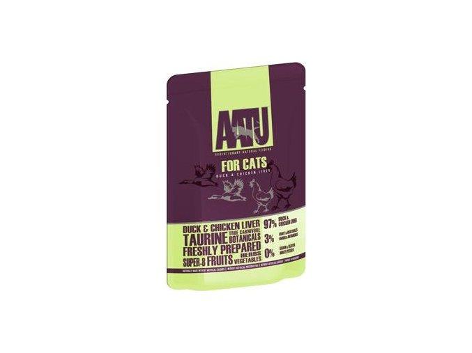 AATU Cat Duck n Chicken Liver kaps. 85g - výprodej