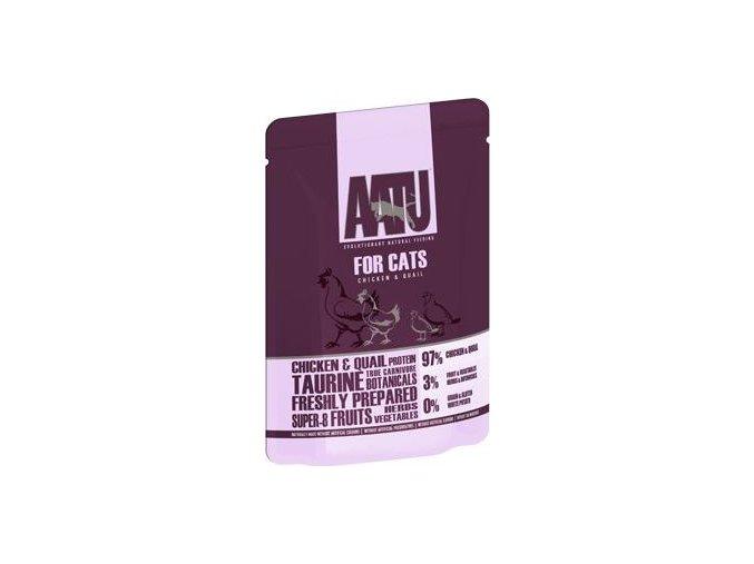 AATU Cat Chicken n Quail kaps. 85g - výprodej