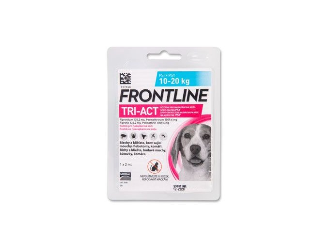 FRONTLINE TRI-ACT spot-on pro psy M (10-20 kg)-1x2ml