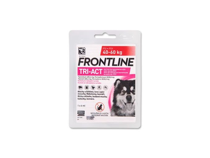 FRONTLINE TRI-ACT spot-on pro psy XL (40-60 kg)-1x6ml