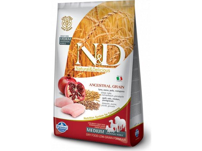 N&D LG DOG Adult Chicken & Pomegranate 12kg