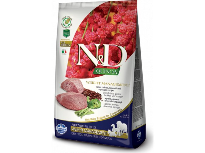N&D Quinoa DOG Weight Management Lamb & Broccoli 800g