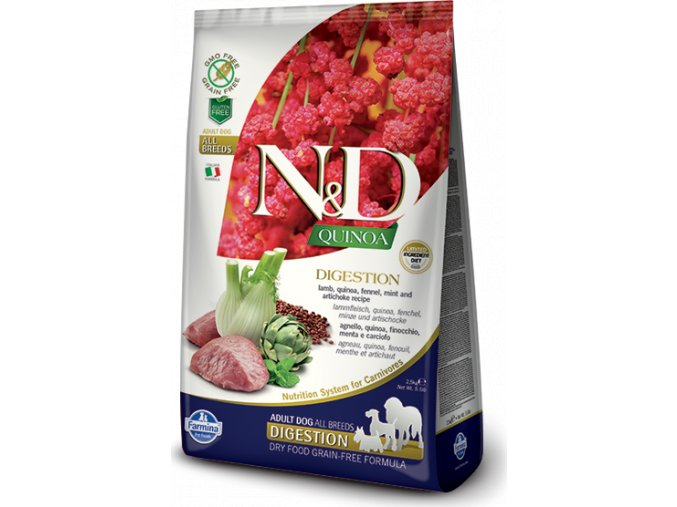 N&D Quinoa DOG Digestion Lamb & Fennel 7kg