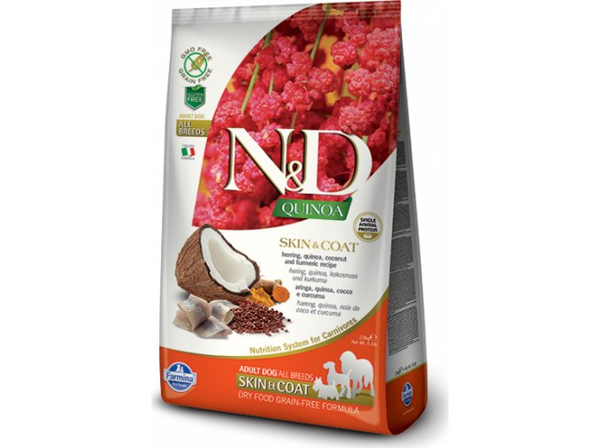 N&D Quinoa DOG Skin & Coat Herring & Coconut 2,5kg