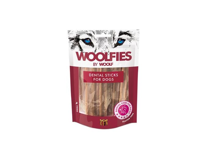 Pochoutka dentální Woolfies Dental Sticks S 200g