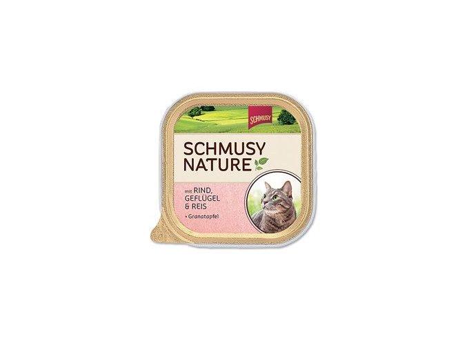 Schmusy Cat Nature Menu vanička hovězí+drůbež 100g