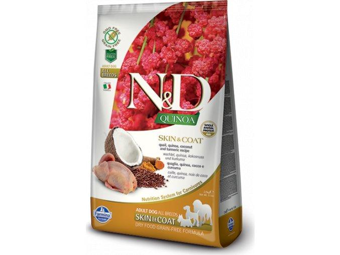 N&D Quinoa DOG Skin & Coat Quail & Coconut 800g