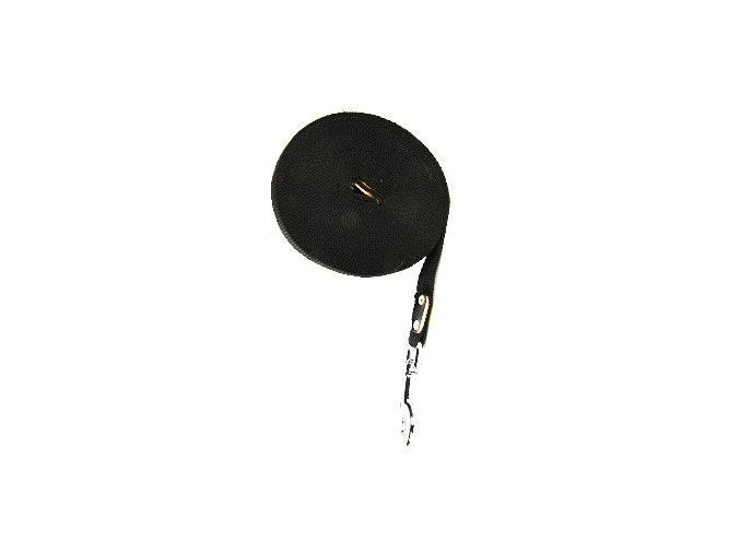 Vodítko nylon stopovací Ploché 5m/16mm Černá 1ks