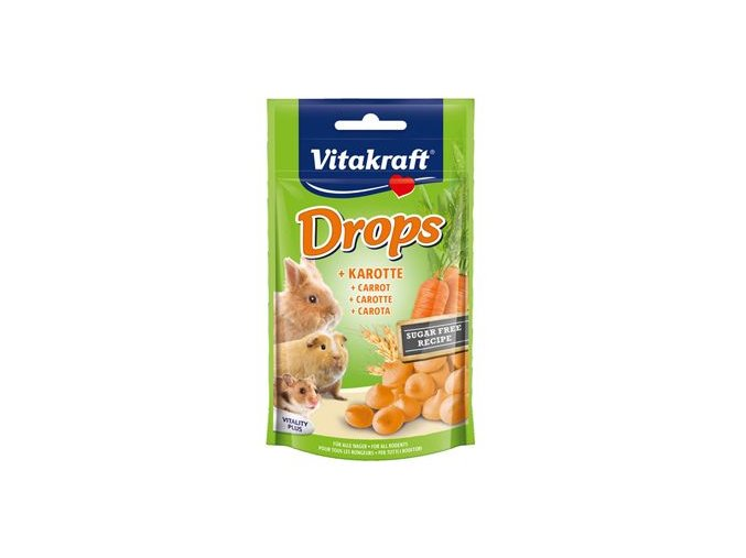 Vitakraft all Rodent poch. Carotties Drops 75g