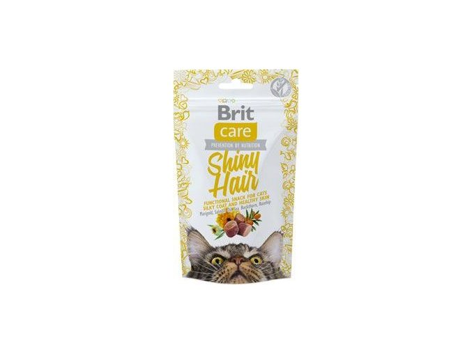 Brit Care Cat Snack Shiny Hair 50g