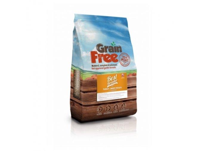 1 best breeder grain free turkey sweet potato cranberry 12 kg