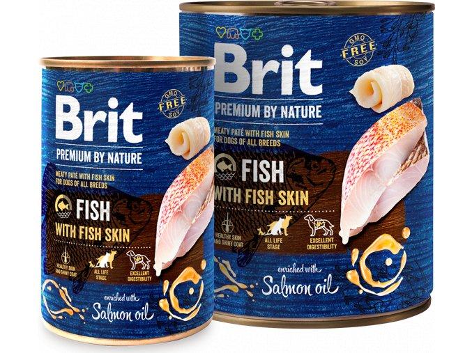 Brit Premium Dog by Nature  konzerva Fish & Fish Skin 800g