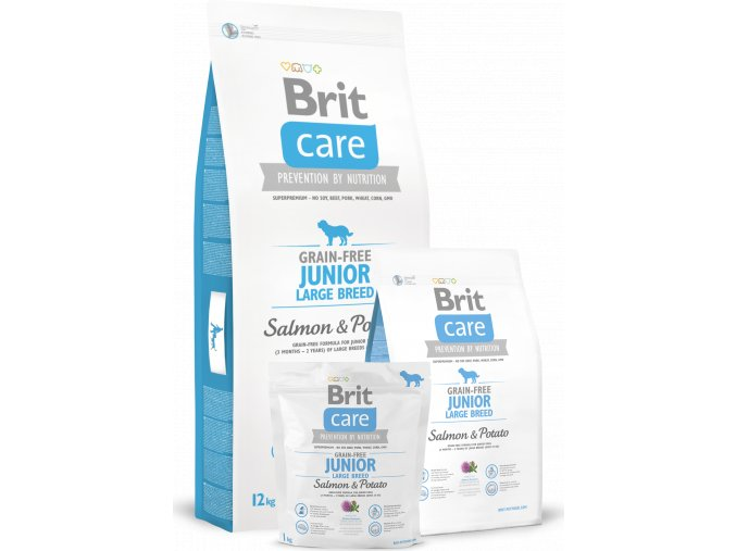 Brit Care Dog Grain-free Junior LB Salmon & Potato 1kg - VÝPRODEJ