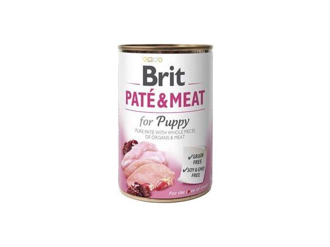 Brit Dog konz Paté & Meat Puppy 400g - výprodej