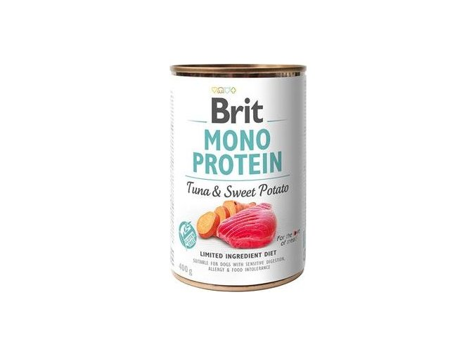 Brit Dog konz Mono Protein Tuna & Sweet Potato 400g - výprodej