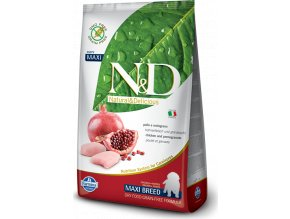 N&D GF DOG Puppy Maxi Chicken & Pomegr 2,5kg