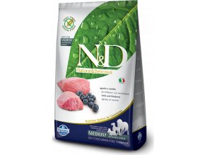 N&D GF DOG Adult Lamb & Blueberry 2,5kg