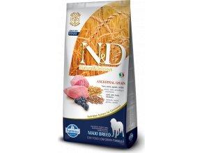 N&D LG DOG Adult Maxi Lamb & Blueberry 12kg