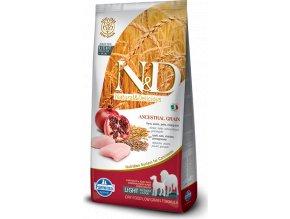N&D LG DOG Light M/L Chicken&Pomegranate 12kg