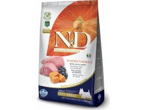 N&D Pumpkin DOG Adult Mini Lamb & Blueberry 7kg