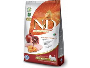N&D GF Pumpkin DOG Adult Mini Chicken&Pomegranat 2,5kg