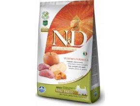 N&D GF Pumpkin DOG Adult Mini Boar & Apple 2,5kg