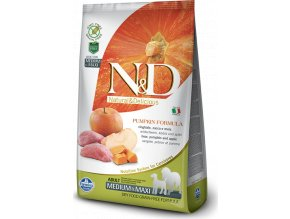 N&D Pumpkin DOG Adult M/L Boar & Apple 12kg