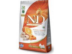 N&D GF Pumpkin DOG Adult Mini Codfish & Orange 7kg