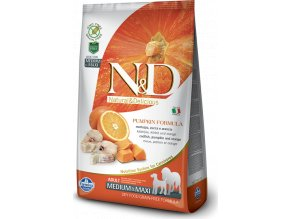 N&D GF Pumpkin DOG Adult M/L Codfish & Orange 12kg