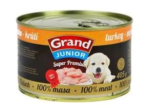 GRAND konz.  Superpremium pes Junior krůtí 405g