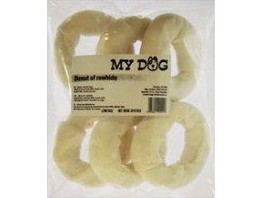Pochoutka Donut z buvolí kůže 10cm 6ks