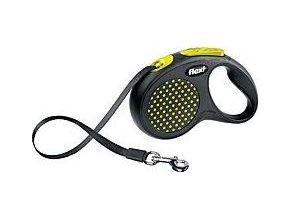 Vodítko FLEXI Design M-L pásek 5m žlutá